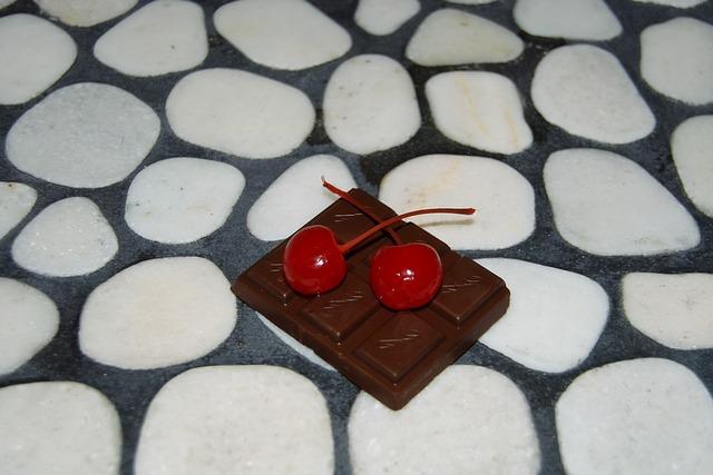 8533e926196 Free photo Black River Rock Cherries Chocolate White Mosaic - Max Pixel