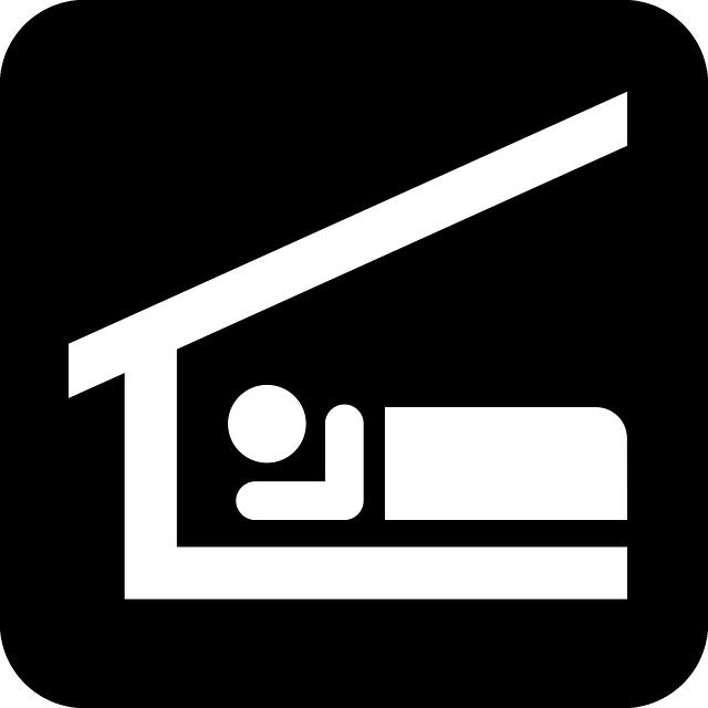 Sleep, Stretcher, Roof, Hut, Black, Sign, Symbol, Icon