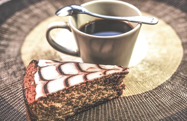 Black, Cake, Coffee, Espresso, Piece, Vintage