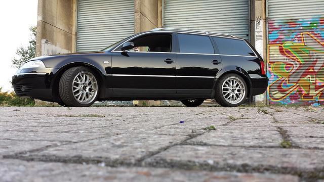 Passat, Vw, Auto, Vehicle, Black