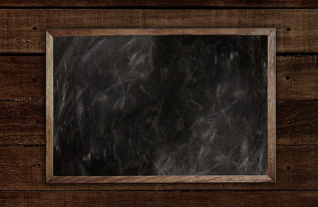 School, Board, Empty, Slate, Blackboard, Chalk