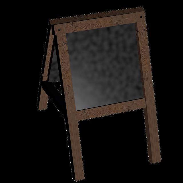 Board, Stand, Blackboard, Customer Stopper, Wood Stand