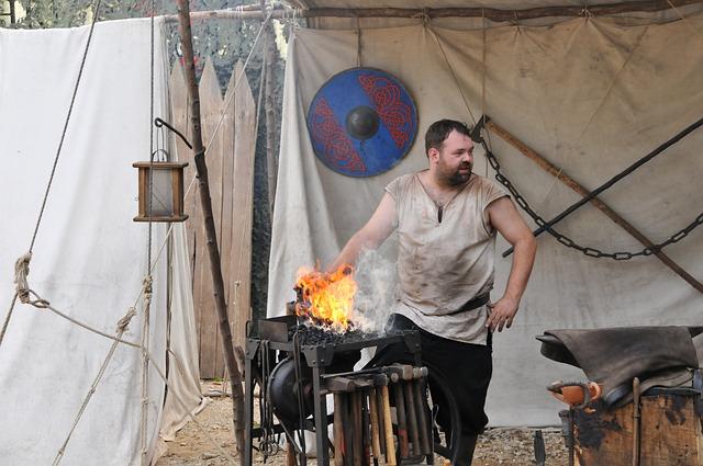 Blacksmith, Medieval Market, Forge