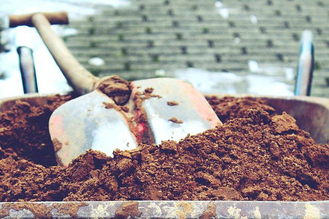 Pokes Fun At, Sand, Blade, Digging, Work, Wheelbarrow