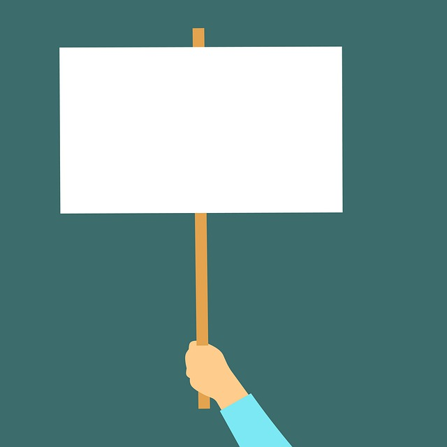 Banner, Blank, Board, Empty, Hand, Hold, Holding