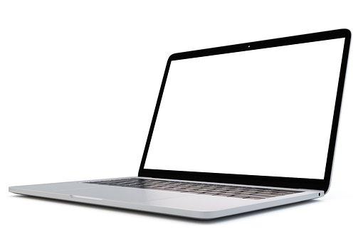Computer, Laptop, Blank, Empty, Screen, Mockup