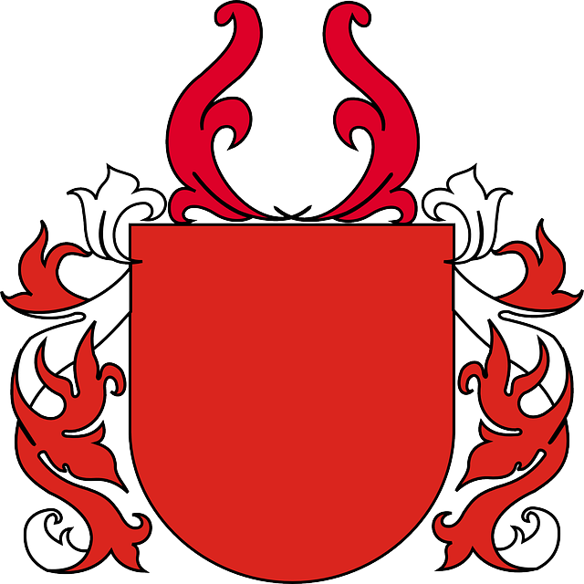 Shield, Coat Of Arms, Red, Blank, Vine, Leaves, White