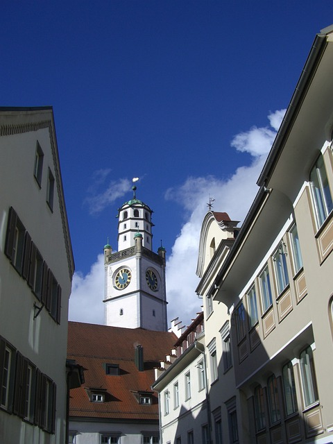 Blaser Tower, Ravensburg, Bowever, Tower, Row Of Houses