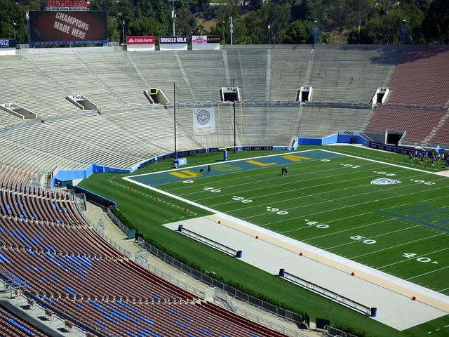 Stadium, Bleachers, Spectator, Turf, Ucla, Rose Bowl