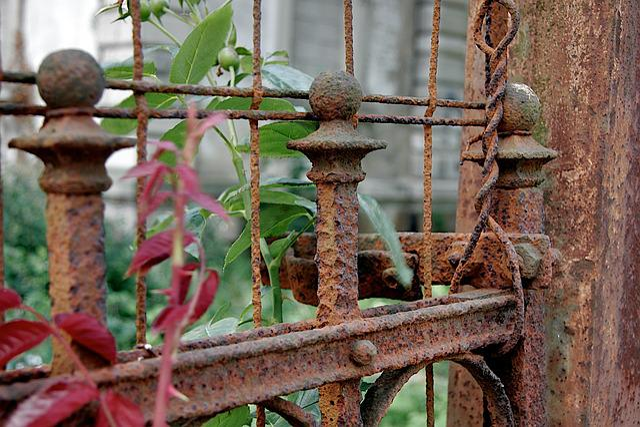 Fence, Stainless, Old, Broken, Bleak, Patina, Iron