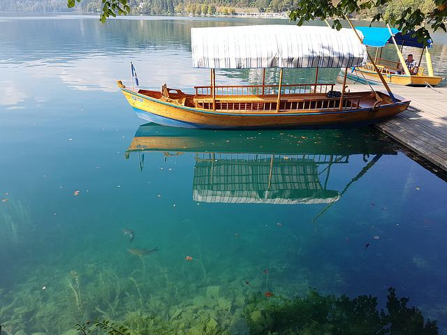 Lake, Castle, Boat, Travel, Nature, Mountain, Bled