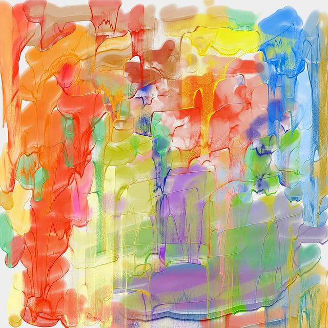 Abstract, Paint, Art, Modern, Drips, Acrylic, Blend