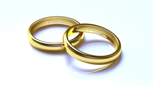 Wedding, Rings, Gold, 3d, Blender