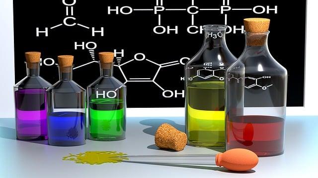 Chemistry, School, Color, Bottles, 3d, Blender