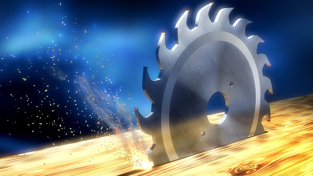 Saw Blade, Chips, Tool, Fire, 3d, Blender