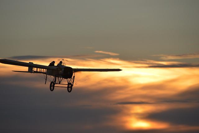Oldtimer, Blériot, Aircraft, Propeller, Fly, Fog