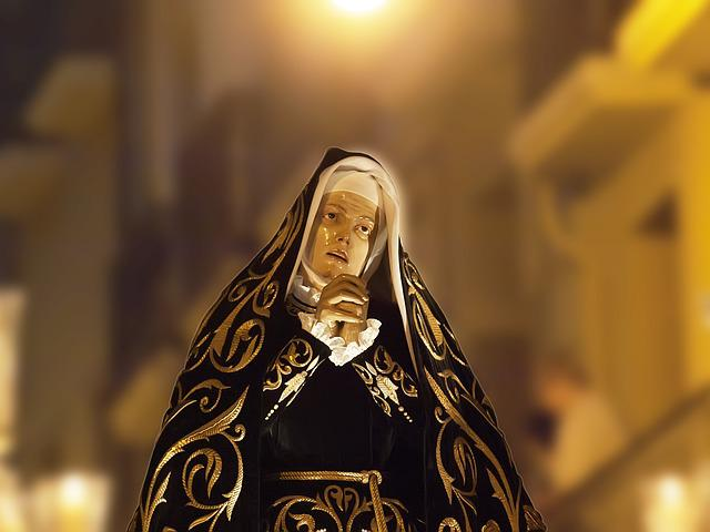 Blessed Virgin Mary, Procession, Painful, Pamplona