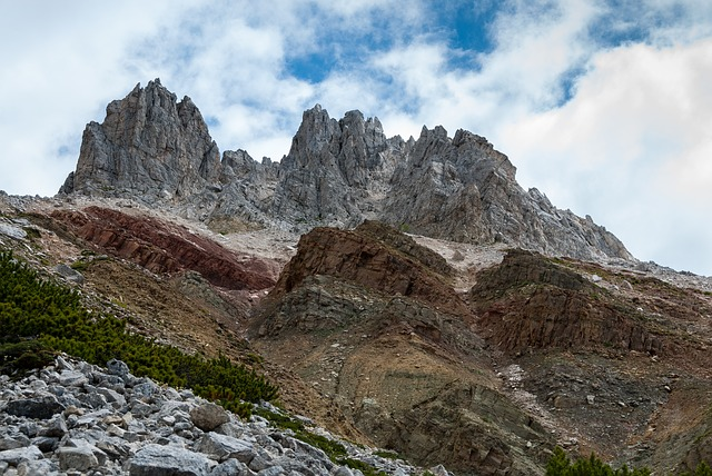 Mountains, White Horn, Bletterbach, South Tyrol