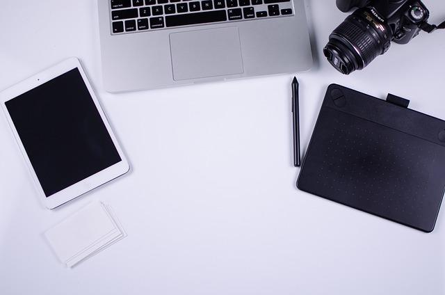 Flat, Lay, Blogger, Blog, Laptop, Nikon, Camera, Ipad