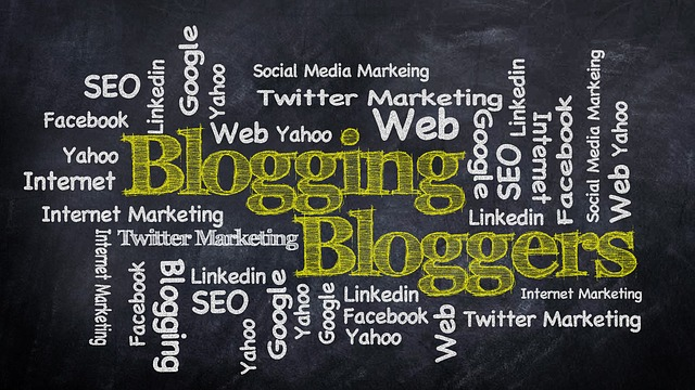 Blogging, Blog, Social Media, Chalk Blackboard
