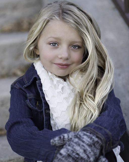 Little Girl, Blond, Winter, Cold, Child, Girl, Cute