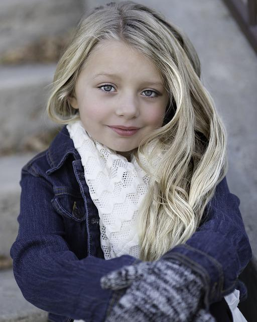Little Girl, Blond, Winter, Cold, Child, Girl, Cute
