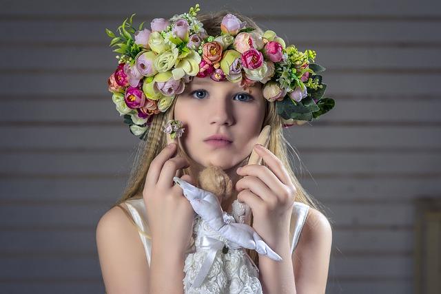Portrait, Girl, Wreath, Hair, Blonde, Baby, Baby Doll