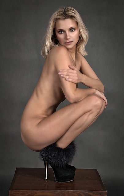 Girl, Shoes, Lovely, Nudity, Body, Blonde, Woman