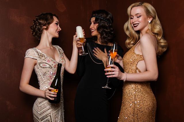Three, Blonde, Hair, Glitter, Glamour, Luxury, People