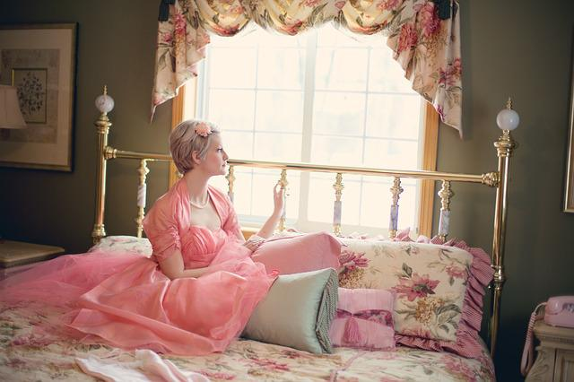 Vintage, Woman On Bed, Retro, Bedroom, Blonde, Romantic