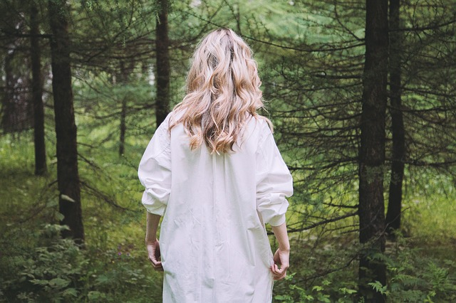 Blond, Blonde, Forest, Outdoors, Person, Trees, Woman
