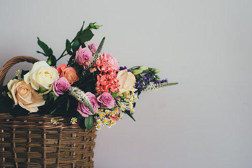 Basket, Bloom, Blossom, Bouquet, Decoration, Flora