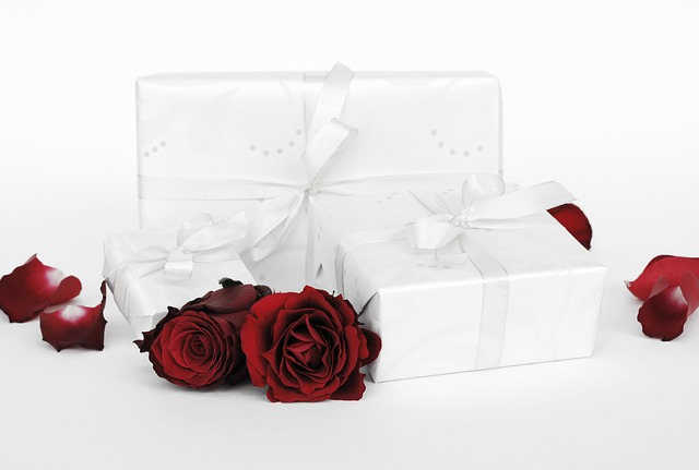 Gift, Surprise, Packed, Love, Open, Rose, Red, Blossom