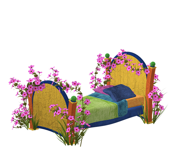Bed, Spring, Wood, Sleep, Out, Garden, Pink, Blossom