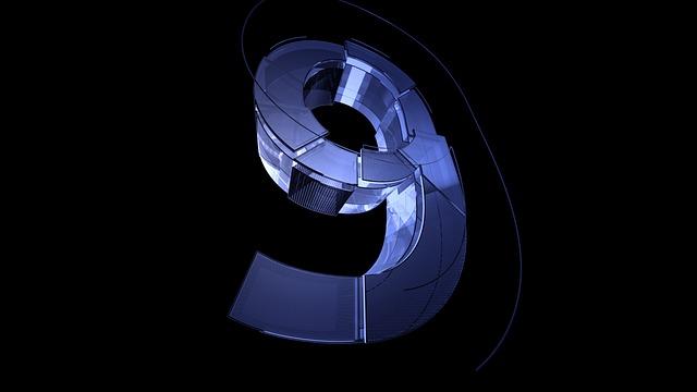 Number, Digit, Nine, 9, Background, Blue, Texture