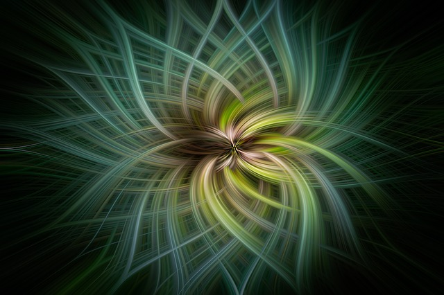 Abstract Art, Graphics, Green, Blue, Artistic