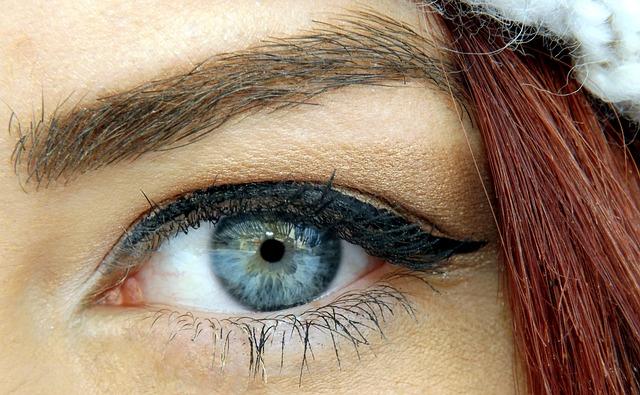 Eye, Blue, Iris, Gene, Seductive, Makeup, Beauty