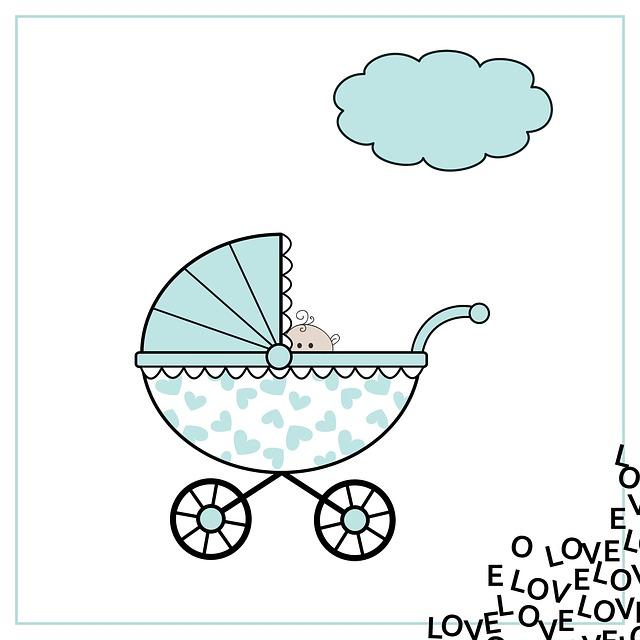 Birth Announcement, Birth, Map, Blue, White