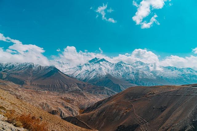 Blue, Clouds, Blue Sky, Landscape, Mountain