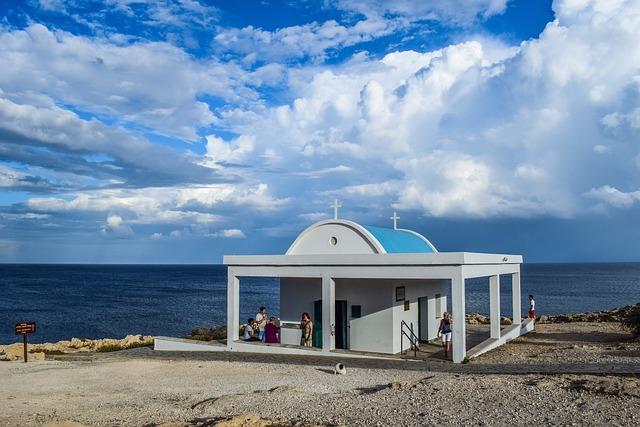 Cyprus, Cavo Greko, Ayii Anargiri, Church, Blue, White