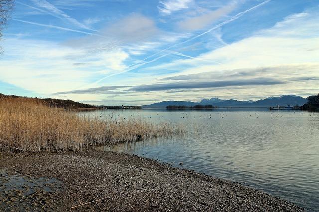 Chiemgau, Chiemsee, Landscape, Sky, Blue, Clouds