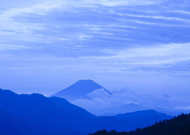Mt Fuji, Cloud, Mountain, Vulcan, Landscape, Blue