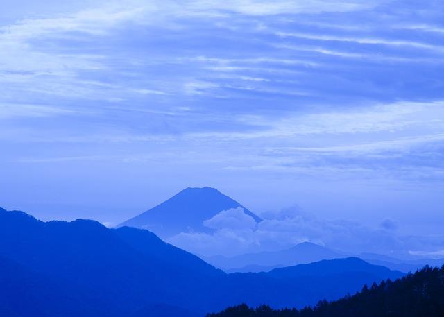 Mt Fuji, Cloud, Mountain, Vulcan, Landscape, Blue