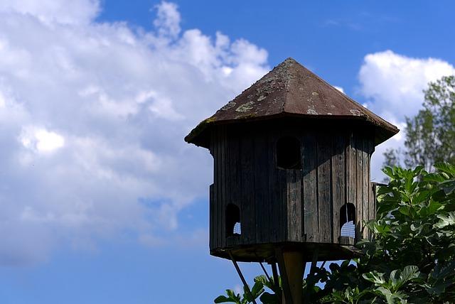 Aviary, Sky, Blue, Clouds