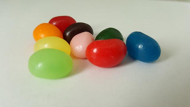 Jelly Beans, Candy, Easter, Colorful, Treat, Red, Blue