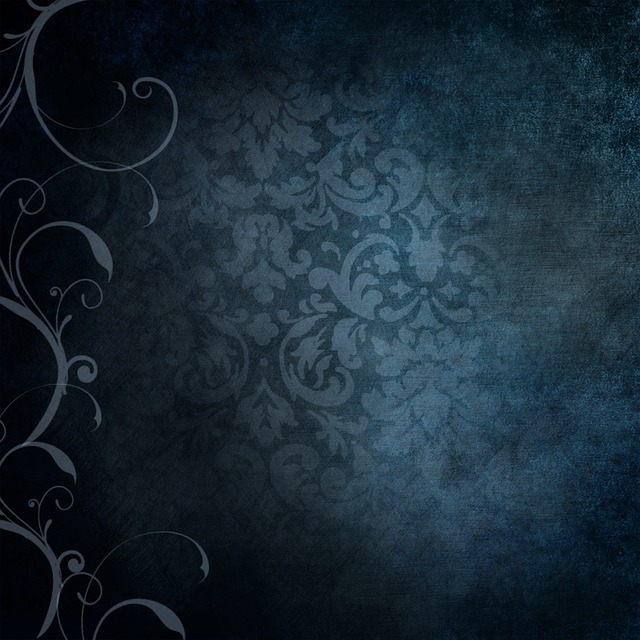 Background, Blue, Victorian, Vintage, Old, Curls