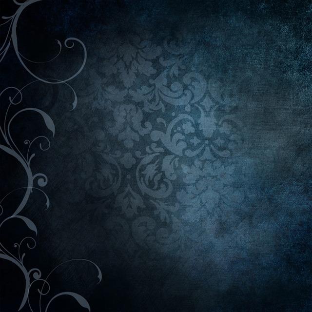 Background, Blue, Victorian, Vintage, Old, Curls