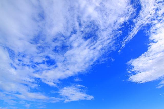 Blue Day, Baiyun, Sky, Light Cloud, Day, Clear