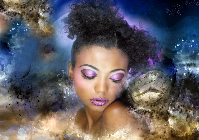 Digital Creation, Person, Woman, Blue, Emotions