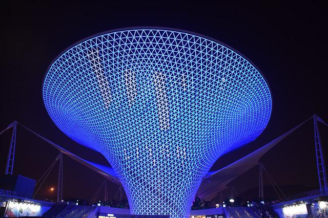 Blue Funnel, Shanghai, Expo, Exposition, Blue, Monument